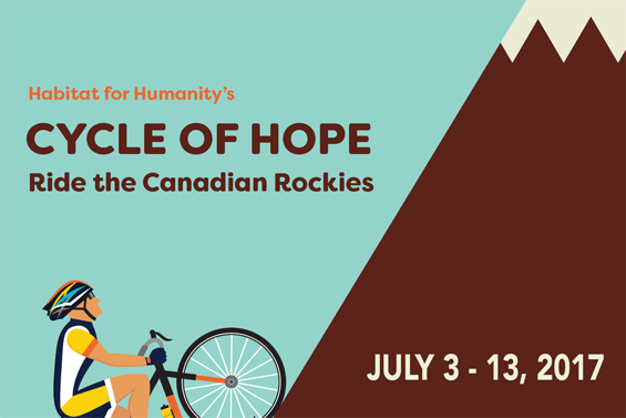 Habitat for humanity's - cycle of hope ride the canadian rockies - July 3-13, 2017